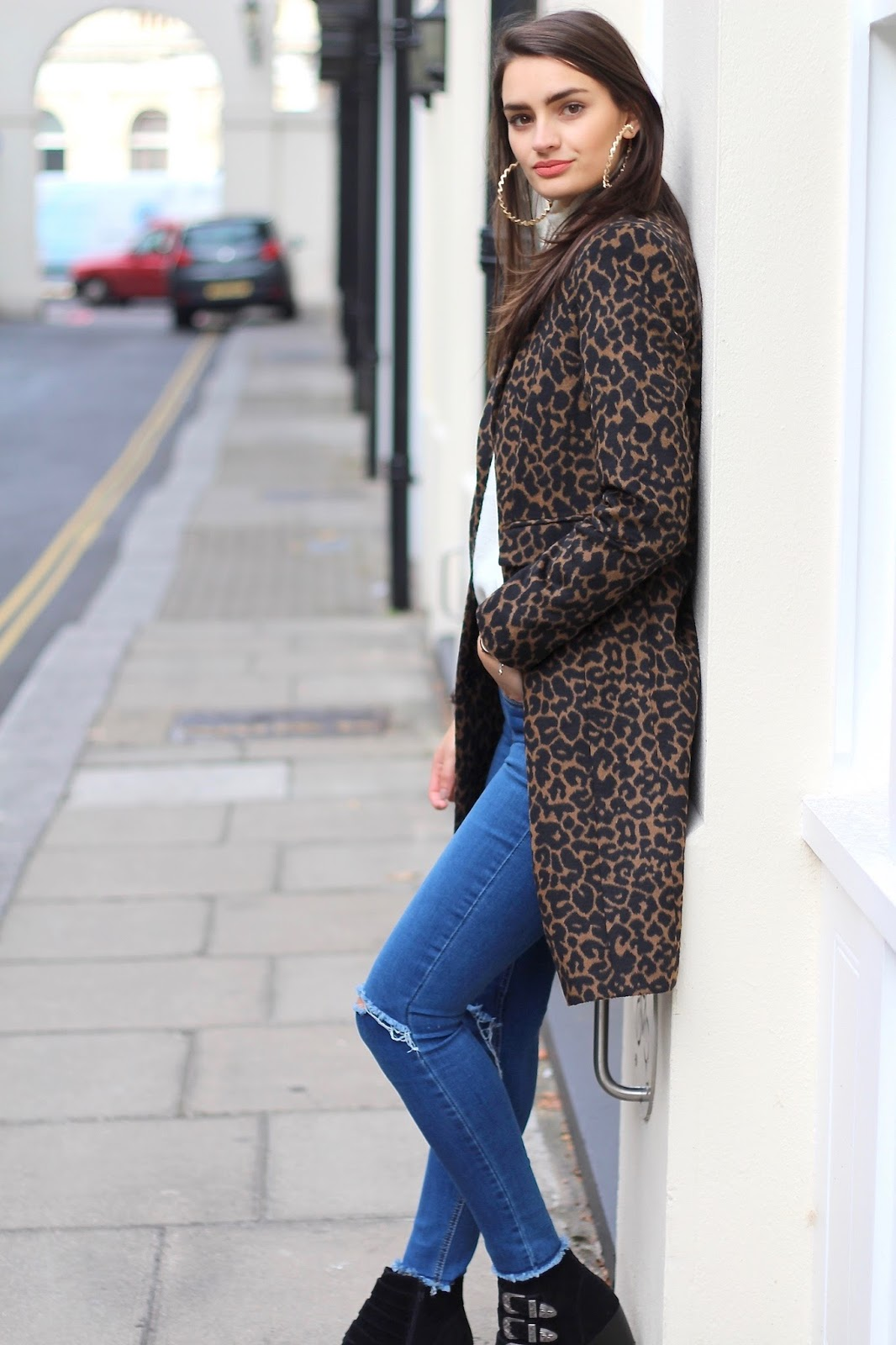 leopard print coat new look peexo