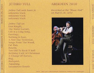 World Of BOOTLEGS BOOTLEG Jethro Tull Aberdeen 2010