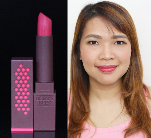 a photo of Burt's Bees 100% Natural Lipstick in Fuchsia Flood