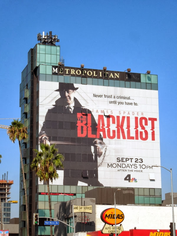 The Blacklist giant season 1 billboard