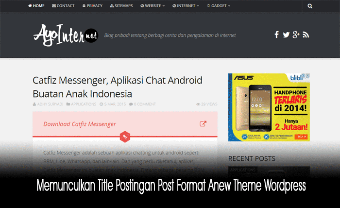 Title Postingan Post Format Anew Theme Wordpress