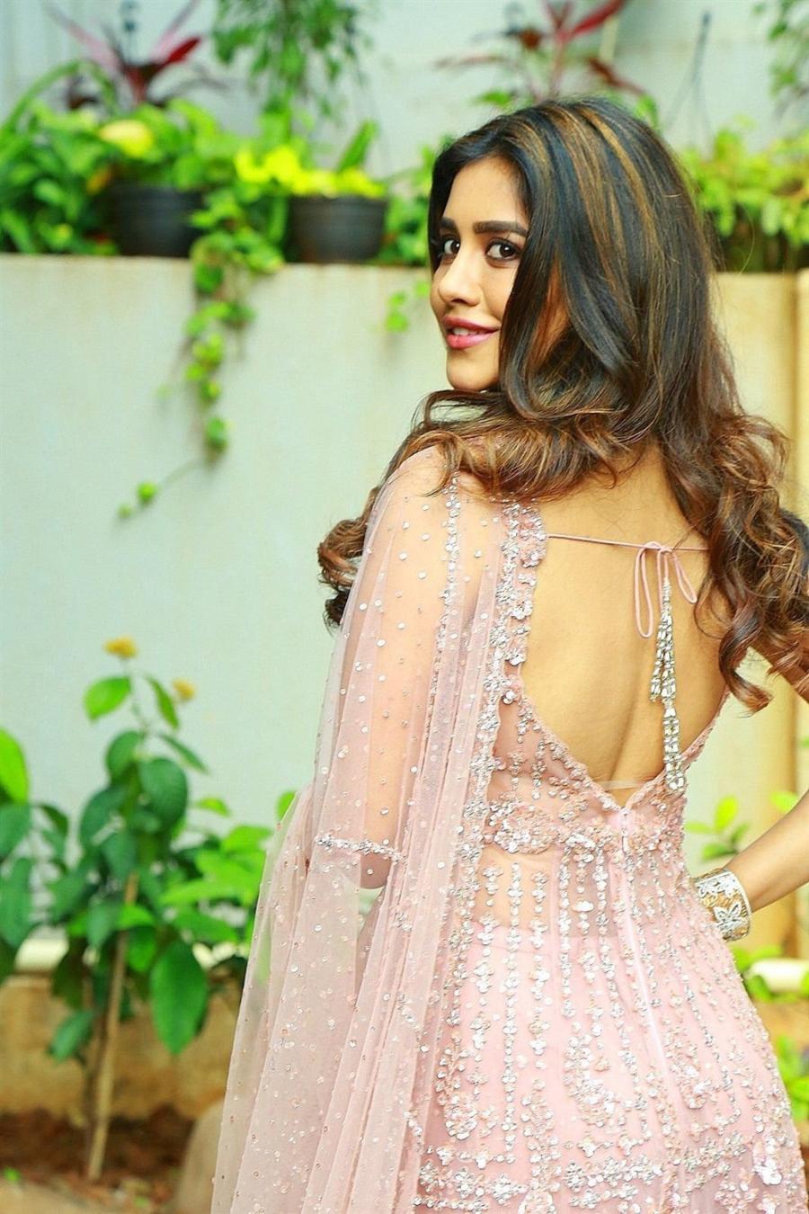 Indian Actress Nabha Natesh at New telugu Movie Opening