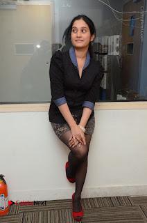Telugu Actress Priyanka Pallavi Stills in Micro Mini Skirt at Nenosthaa Movie Song Launch at Radio City  0061.JPG