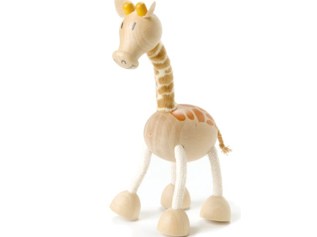 Wooden giraffe toy