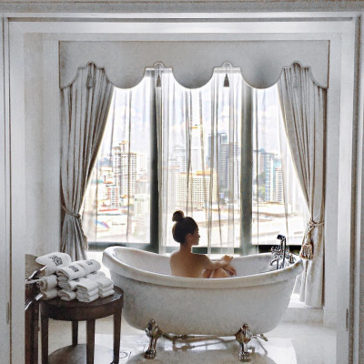 Evening bath the Ritz Carlton