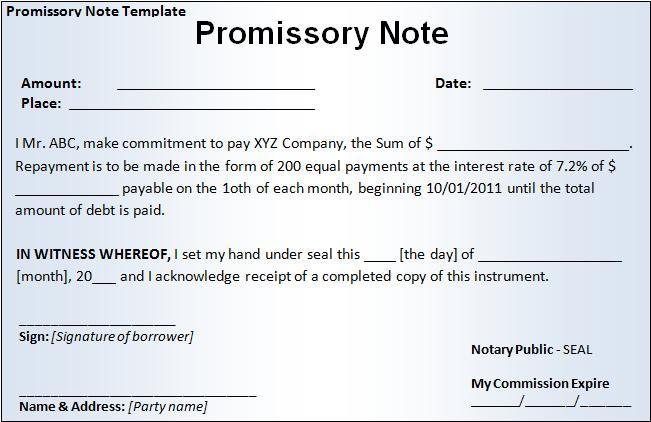Live Economics Certificate of Deposit (Specimen Copy) - parties of promissory note