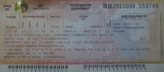 Russian Tickets and Curiosities