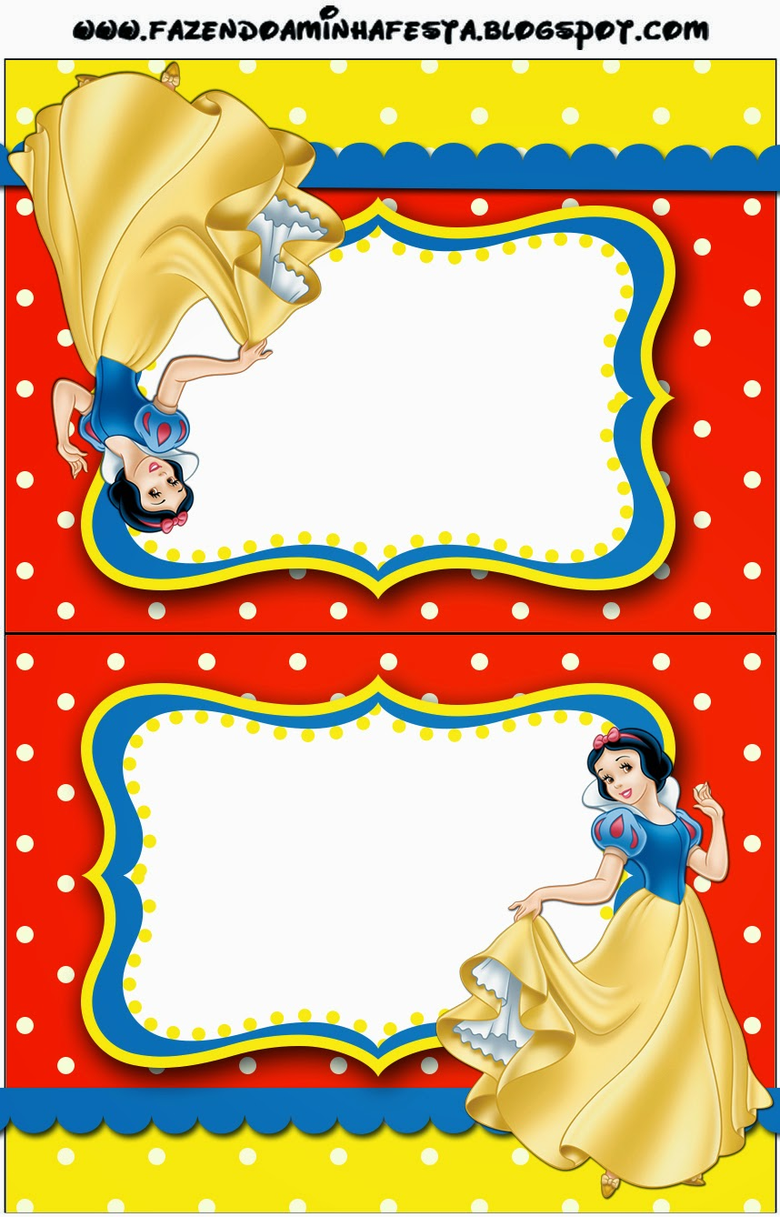 Snow White: Free Printable Candy Bar Labels.   Oh My Fiesta! in english