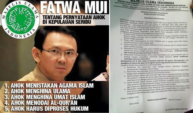 Fatwa MUI: Ahok Terbukti Lakukan Penistaan Agama Islam