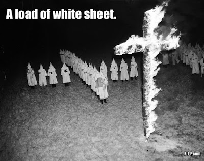 KKK - a load of white sheet funny religion pun