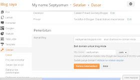 Ganti Domain Dari Dashboard Blogger.com