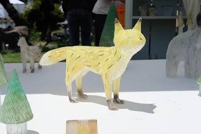 松本クラフトフェア2017 ガラス作家・安達知江 キツネ