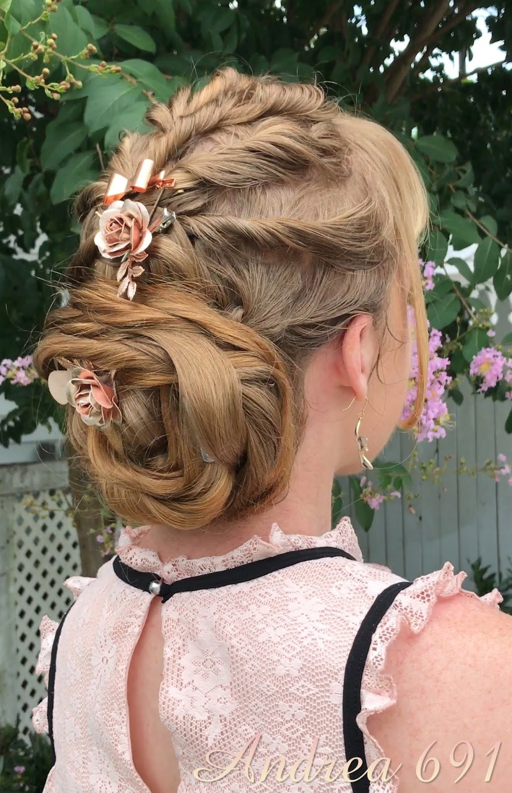 Braids Hairstyles For Super Long Hair Soft Romantic Updo