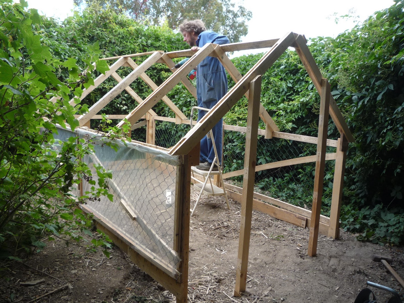 Home-made low cost pallet wood greenhouse, viable, safe ...