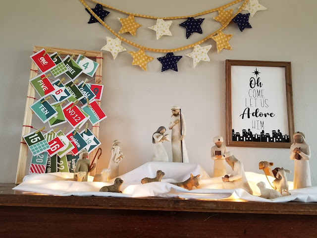 Make your home a Christ Centered home this Christmas with this simple mantel idea and free cut files.