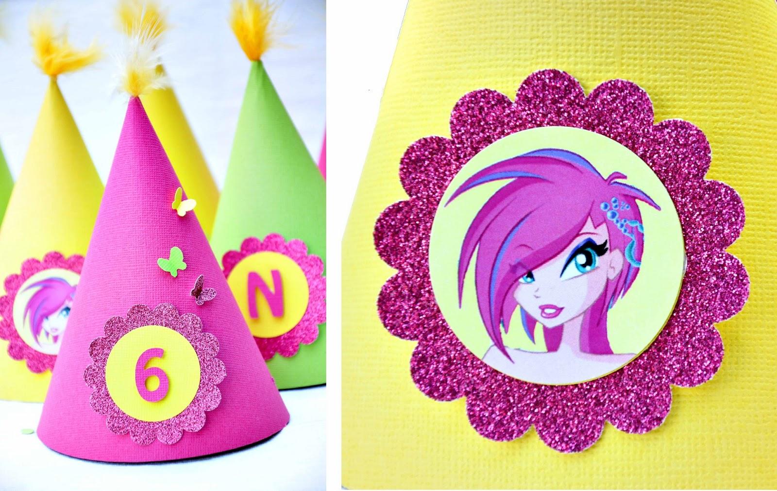 születésnapi dekorációs kellékek sugarparty   egyedi tervezésű gyerekbulik: Winx   tündéri  születésnapi dekorációs kellékek