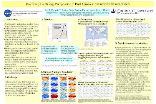 Our poster presentation on predicting the mineral composition of dust aerosols at the 2014 fall meeting of the AGU
