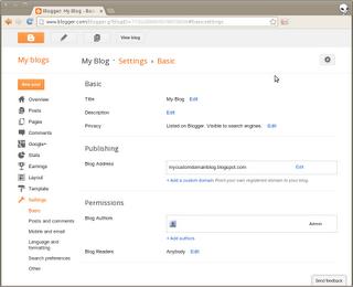Configurer votre nom de domaine sur 1and1 avec blogger