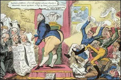Loyal Addresses and Radical Petitions by George Cruikshank, 1819
