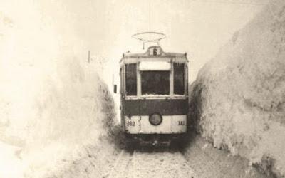 Tramvaie în Bucureşti - iarna lui 1954