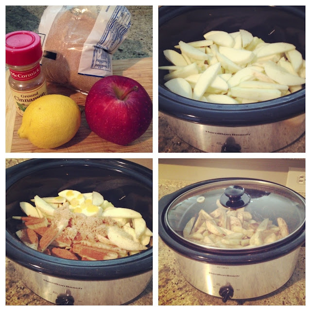 applesauce, crockpot, slow cooker, recipe