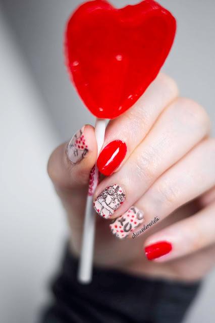 ongles st valentin
