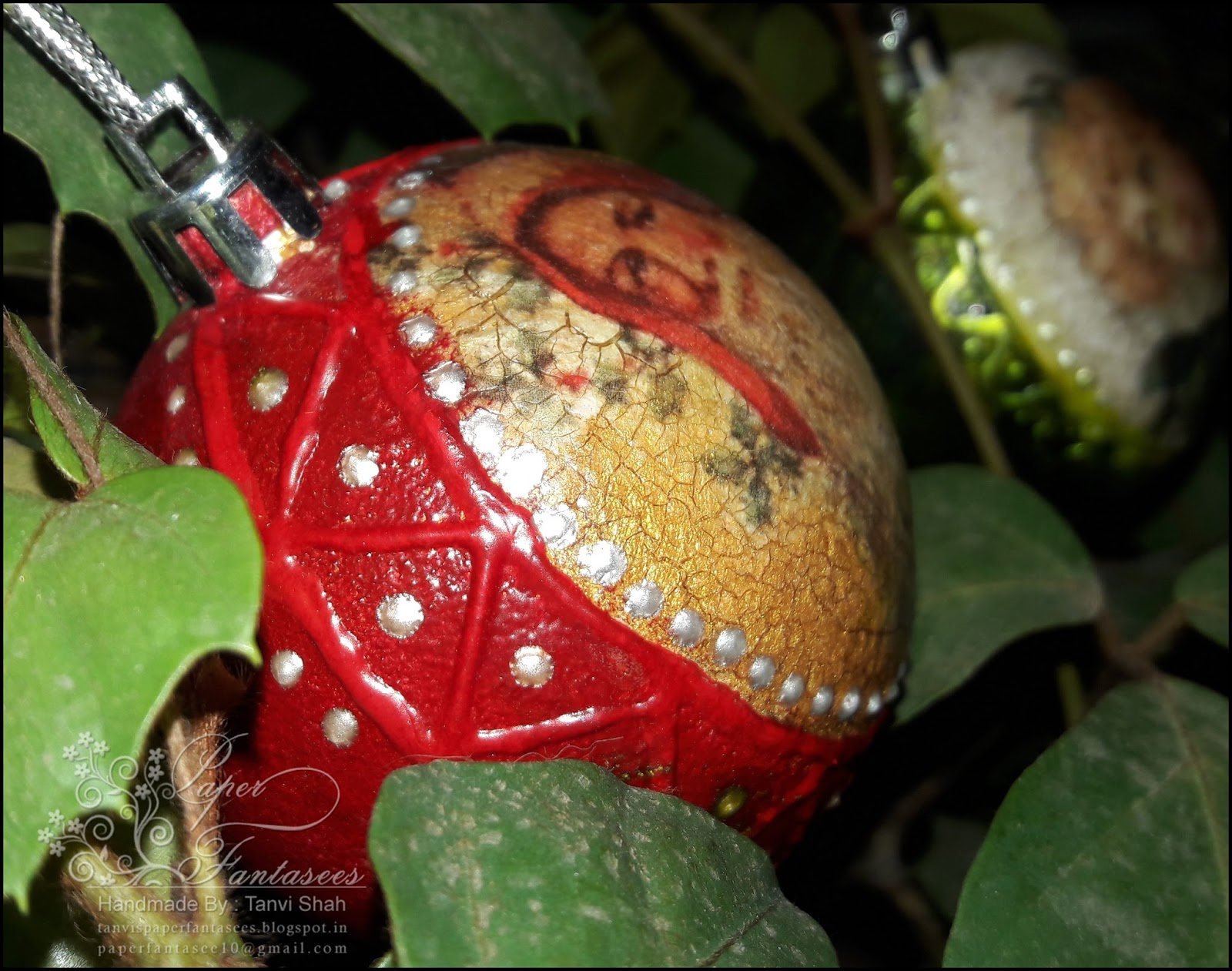 Paper fantasees the craft christmas ornaments decoupage