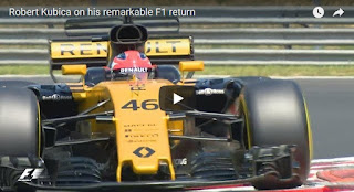 Robert Kubica on his remarkable F1 return