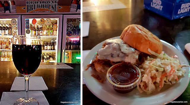 Sanduíche de Barbecue da Broadway Brewhouse, Nashville