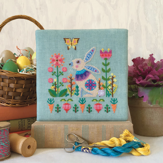 easter_bunny_rabbit_cross_stitch_modern_folk_design