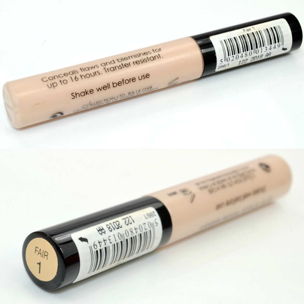 Collection Lasting Perfection Ultimate Wear Concealer Fair Review and Swatches