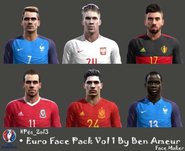 PES 2013 Euro 2016 Facepack Update