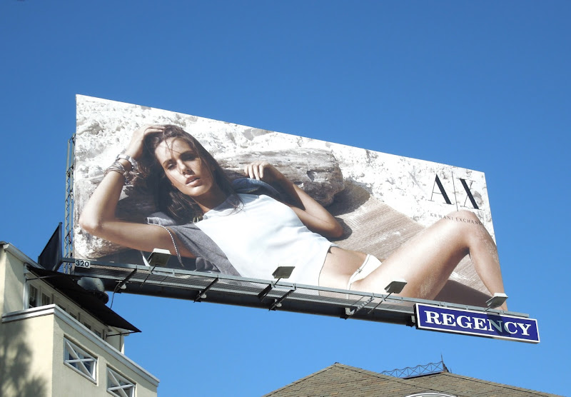 Armani Exchange Camila Q beach billboard