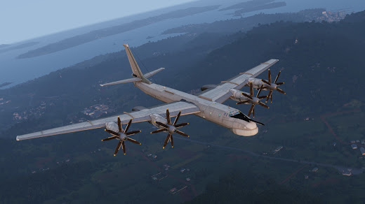 Arma3用RHS:Escalation MODのTu-95MS Bear戦略爆撃機