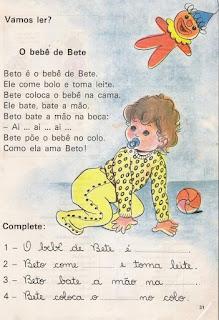 Leitura O bebê de Beto