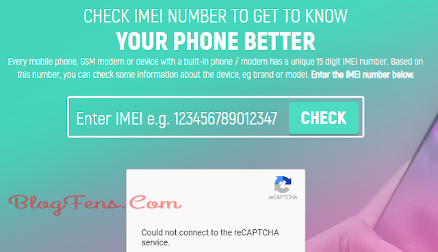 First of all, visit the Imei.info website.