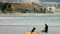 The shuttered San Onofre Nuclear Generating Station in California (Credit: AP) Click to Enlarge.