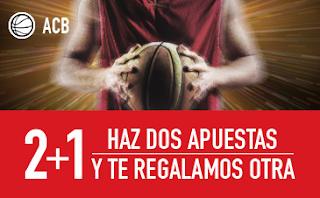 sportium ACB: Haz 2 apuestas y 1 Gratis 12-13 mayo