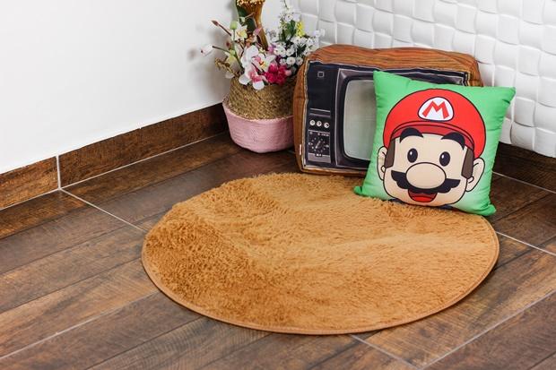 Tapete redondo, tapete de pelinhos, tapete de bege de pelos, como decorar com tapete, rosegal