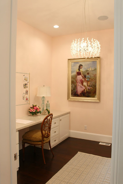 Home Tour: Pink Paint Color For Office