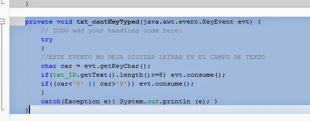 Java consume javafx keytyped event from textfield