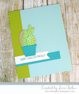 Sorry I Was So Prickly card-designed by Lori Tecler/Inking Aloud-stamps and dies from Lil' Inker Designs