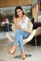 Avantika Mishra in One Shoulder Crop Top and Denim Jeggings ~  Exclusive 070.JPG