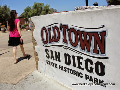 entrance sign to Old Town San Diego State Historic Park in San Diego, California
