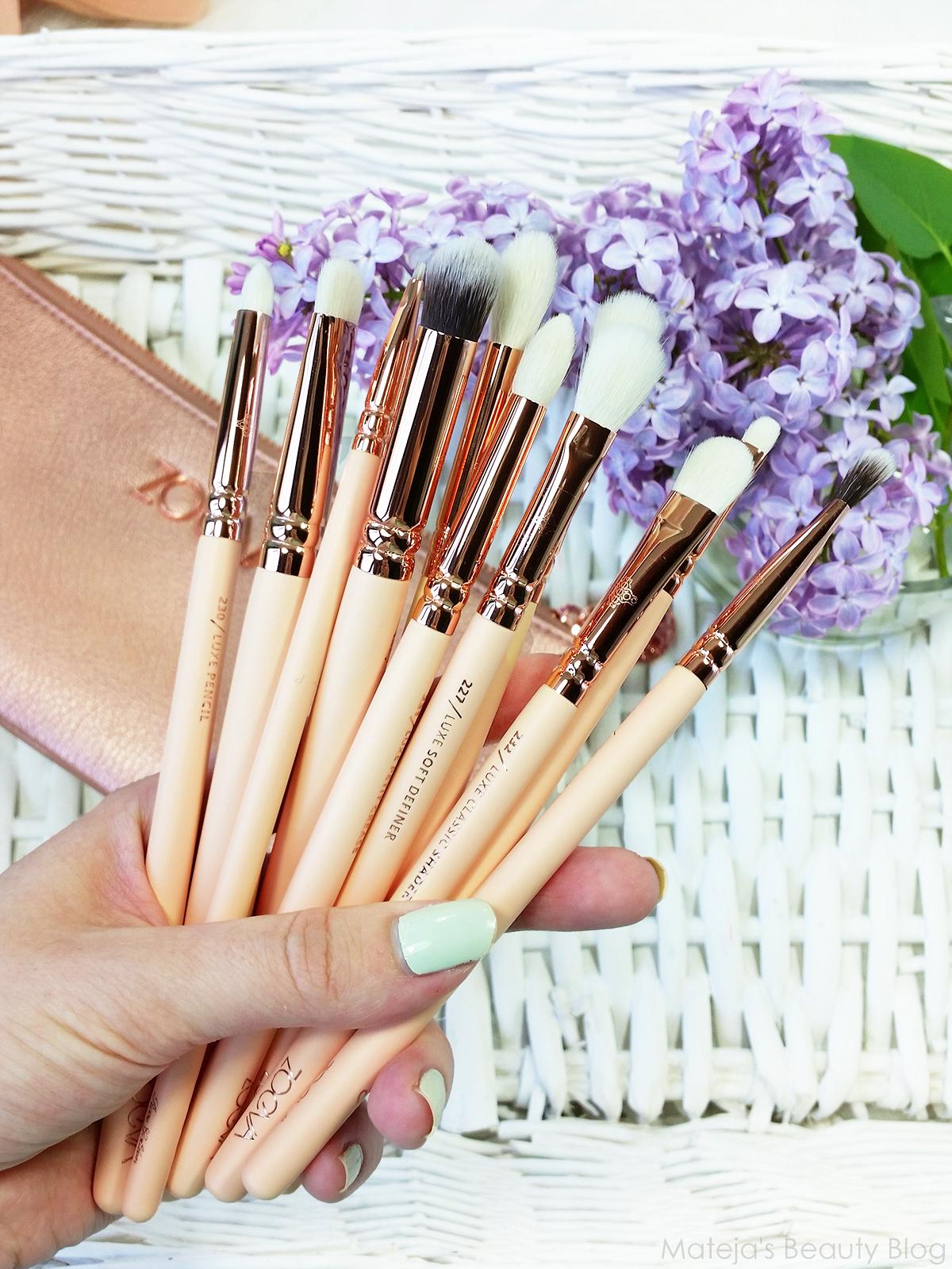 Zoeva Rose Golden Complete Eye Set Vol 2 Matejas Beauty Blog Dark Brown 8 Piece Bursh Bag