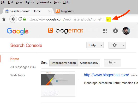 Cara Mengganti Bahasa Indonesia Google Search Console