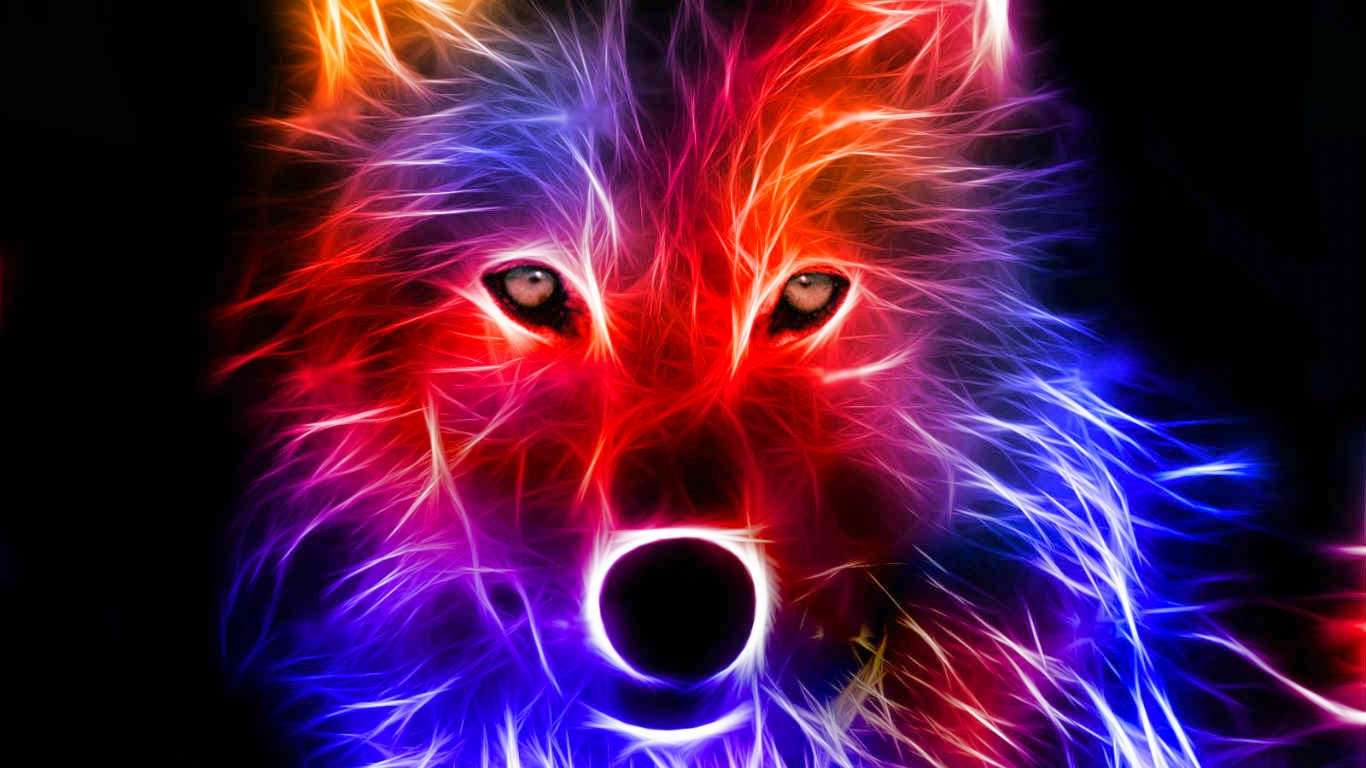 Top Neon Wolf Wallpapers