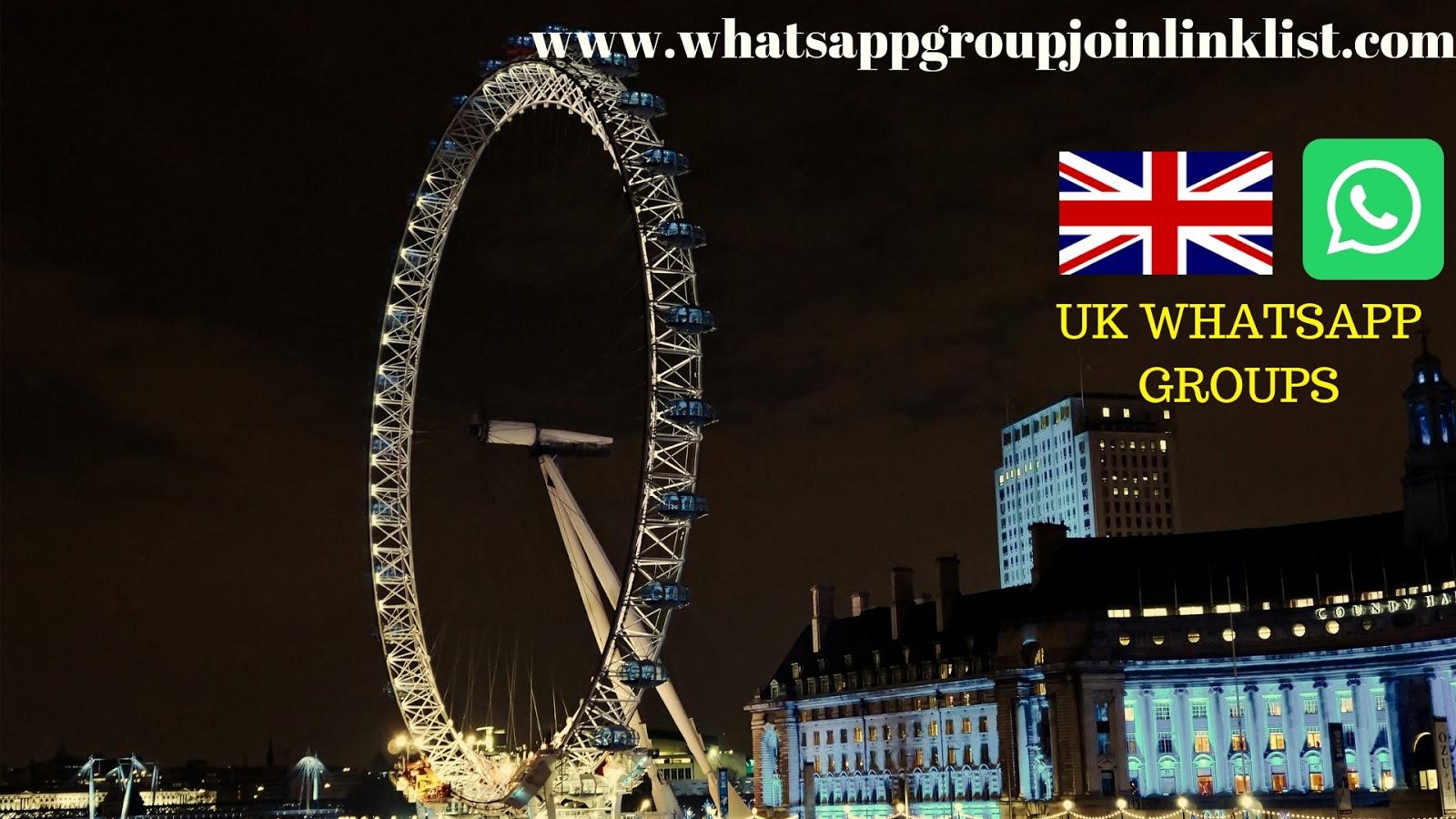 UK WhatsApp Group Join Link List