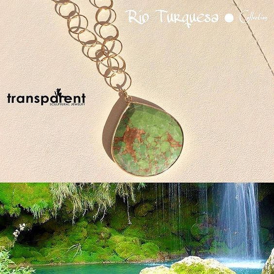Indie creations: Transparent Sculptural Jewelry Rio Turquesa Collection by Marta Roura Castellò