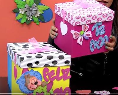 Cajas de cart n corrugado aprende c mo hacerlo paso a paso haz manualidades - Cajas de carton decoradas ...